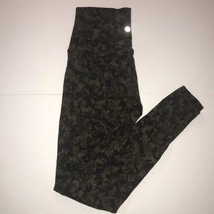 Lululemon camo leggings, size 4